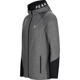 Peak Performance Rider Mel Zip Hood Jacket Herre Grey Melange